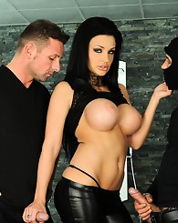 Aletta Ocean in a double penetration harcore act